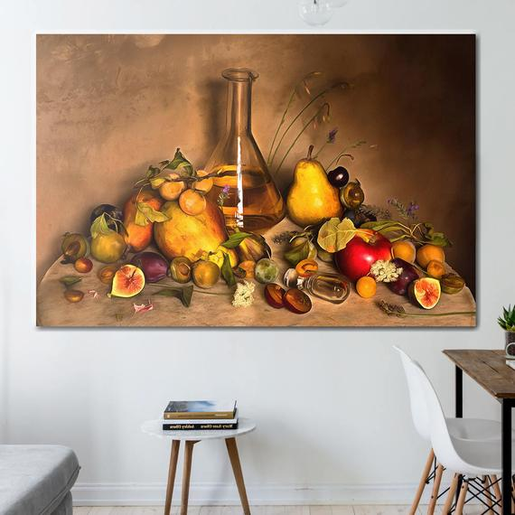 Fruit Canvas Still Life Canvas Fruit Art Kitchen Wall Art Fruit Print Kitchen Print Kitchen Canvas Kitchen Poster Fruit Painting